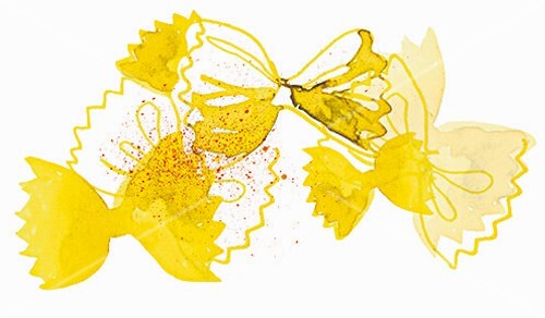 Farfalle pasta (illustration)