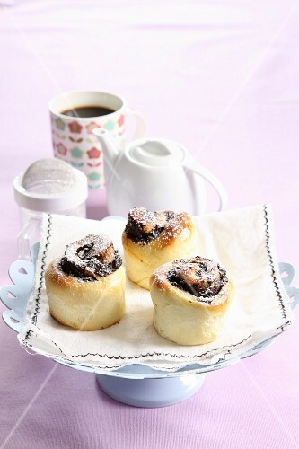 Plum and chocolate buns