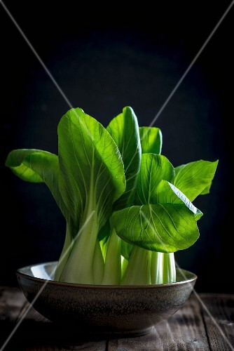 Bok choy in a bowl