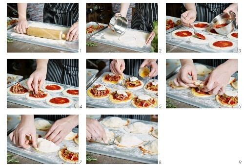 Calzone being made