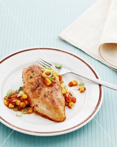 Chicken breast with sweetcorn salsa