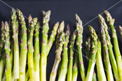Spears of green asparagus (detail)
