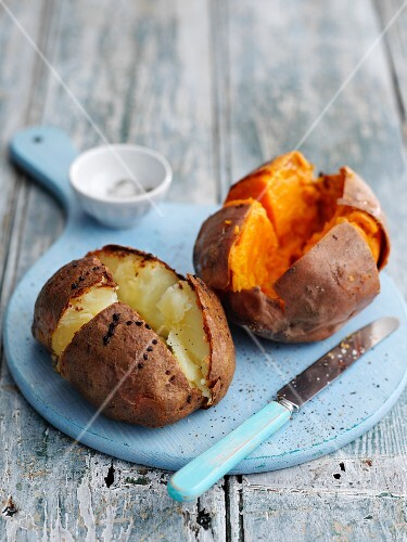 Two jacket potatoes