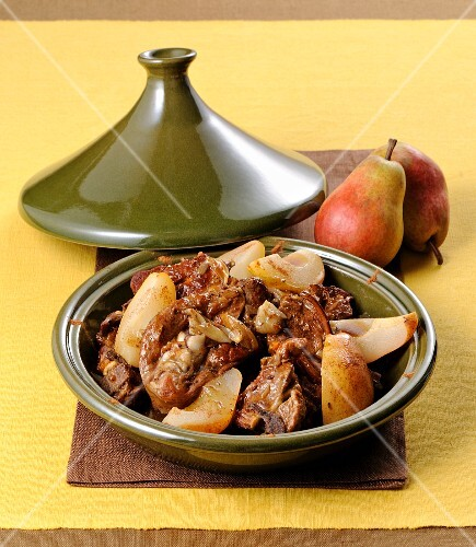 Braised lamb with pears