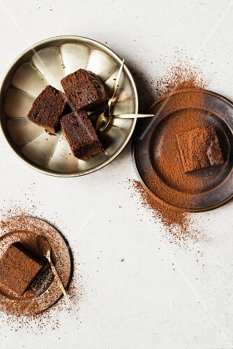 Miso chocolate brownies (seen from above)