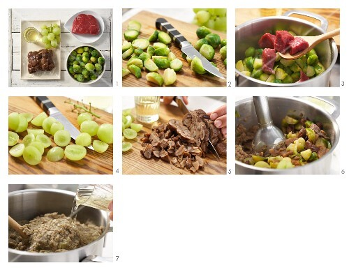 How to prepare fruity sprout porridge with grapes