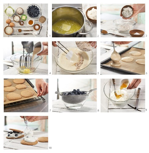 How to prepare biscuits with blueberries and vanilla quark