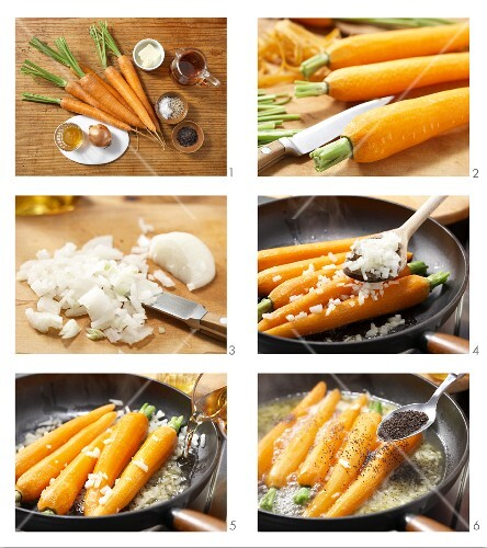 How to prepare carrots glazed with honey