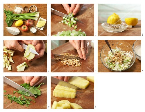 How to prepare classic Waldorf salad with pineapple