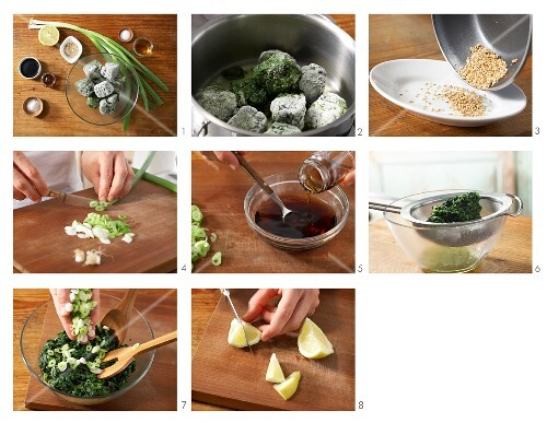 How to prepare Asian spinach salad with sesame seeds