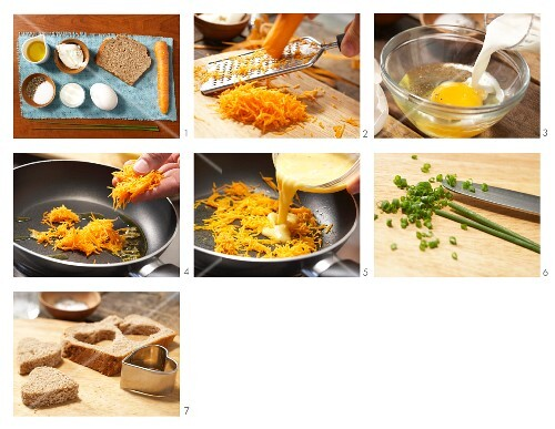 How to prepare scrambled eggs with carrot