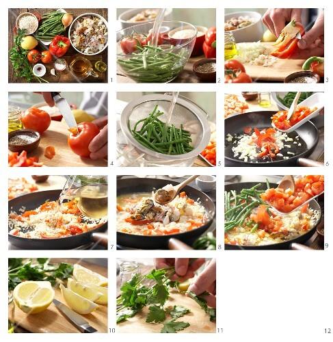 How to prepare seafood paella