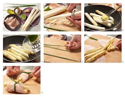 How to prepare turkey & asparagus rolls
