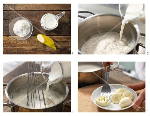 How to prepare creamed rice with banana