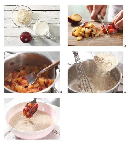 How to prepare plum semolina pudding