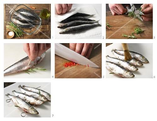 How to prepare rosemary sardines