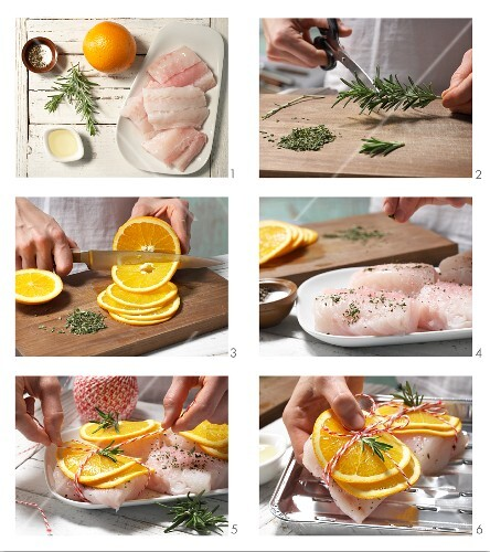 How to prepare grilled cod fillets with rosemary and orange