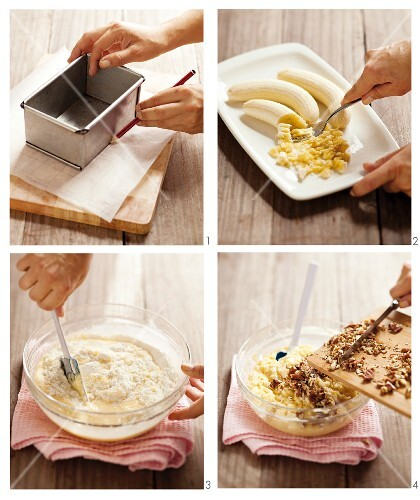 How to make banana loaf with pecan nuts