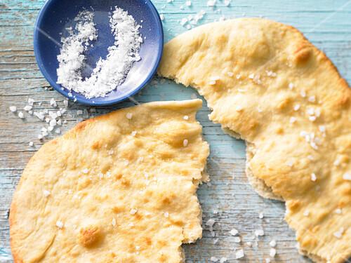 A spelt flatbread with sea salt