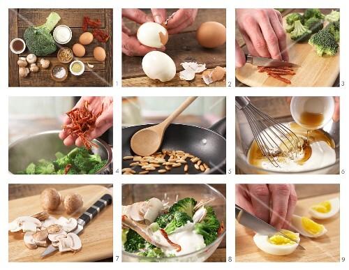 How to prepare egg and broccoli salad