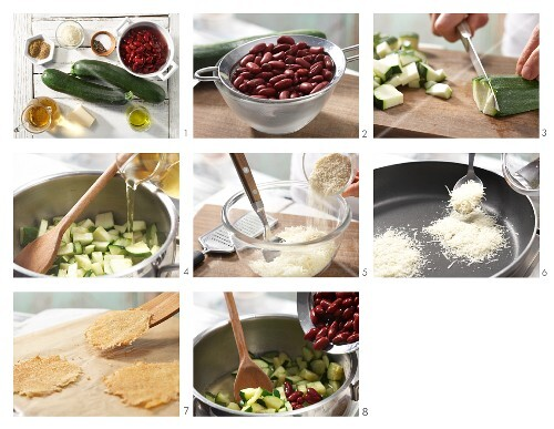 How to prepare kidney bean stew with Parmesan crackers