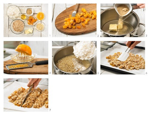How to prepare apricot and coconut bars with almonds