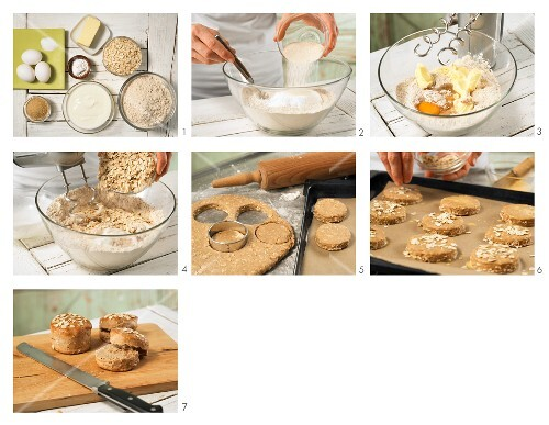 How to prepare porridge oat scones with yoghurt