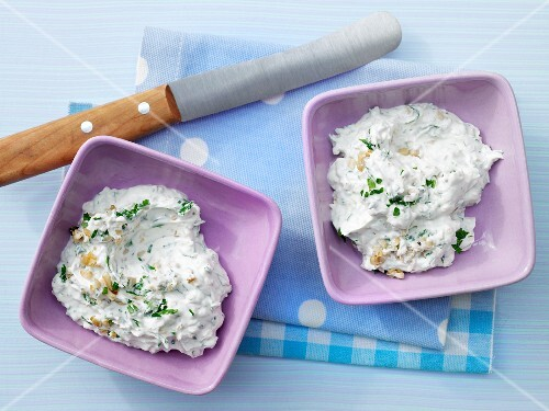 Mushroom and cream cheese cream with parsley
