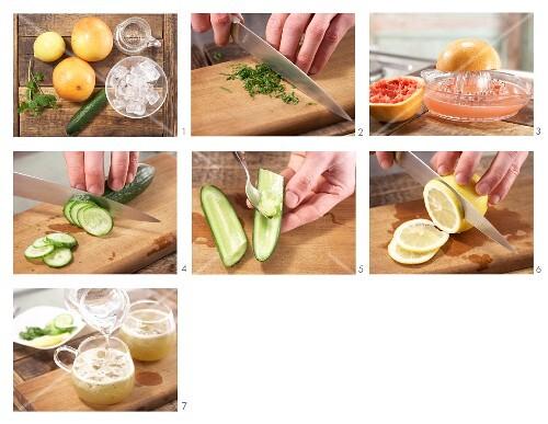 How to prepare citrus & cucumber punch