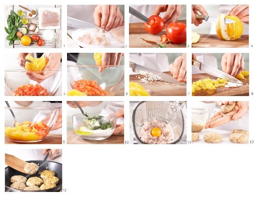 How to prepare fishcakes with orange & tomato salsa