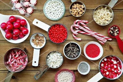 Christmas cupcake decorations and sprinkles