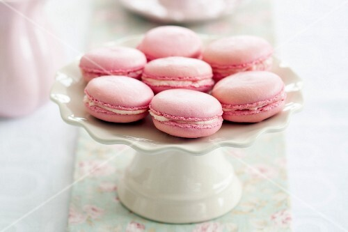 Parisian macarons on a cakestand