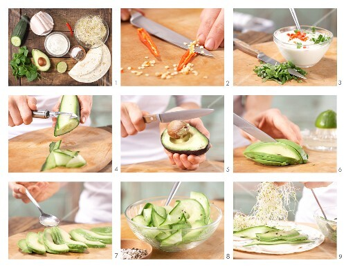 How to prepare filled wraps