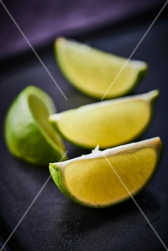 Four lime wedges