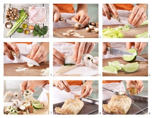 How to prepare plaice fillet rolls