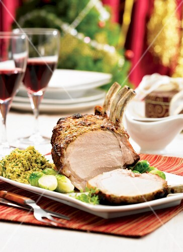 A rack of lamb with a Gorgonzla & garlic crust