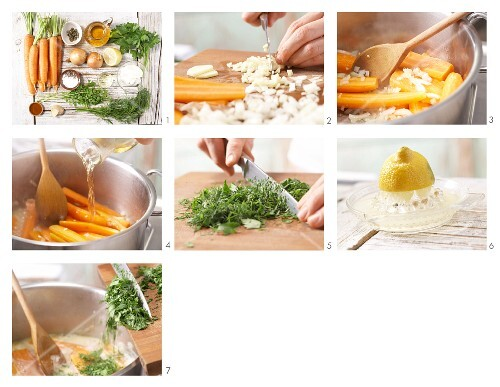 How to prepare steamed ginger carrots with herbs