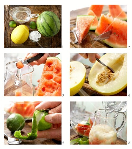 How to prepare melon punch with lime