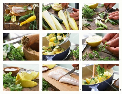 How to make a zander fillet and courgette soup with chervil and spices
