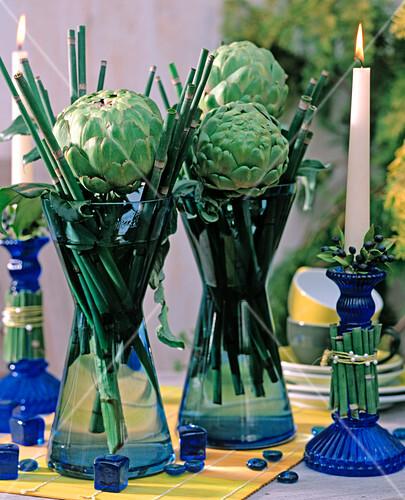 cynara scolymus artischocken equisetum schachtelhalm bild kaufen friedrich strauss. Black Bedroom Furniture Sets. Home Design Ideas