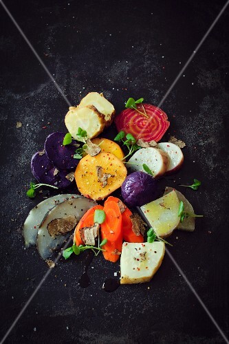 Oven-roasted vegetables with truffle