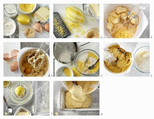 How to make a polenta sponge cake with lemon