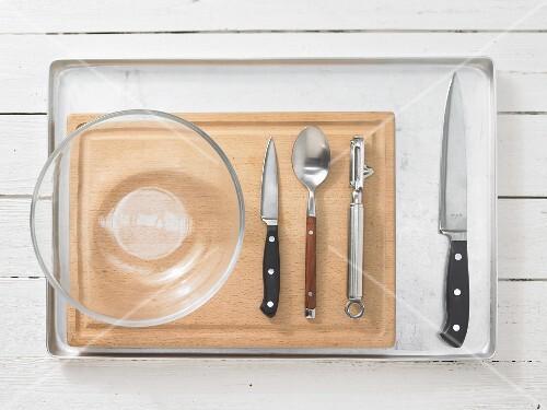 Küchenstange Für Utensilien ~ utensilien für gemüsegericht u2013 bild kaufen u2013 12265432 u2013 stockfood