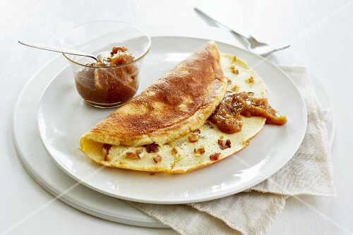 A date omelette with fig honey (diet)