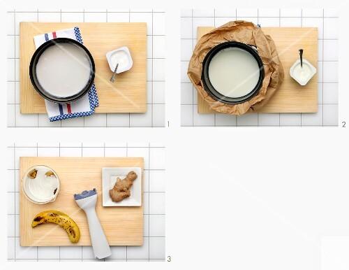 How to make a banana yoghurt shake