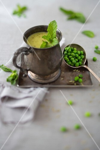 Mint and Pea Homemade Soup