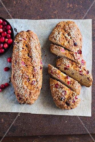 Cranberry soda bread