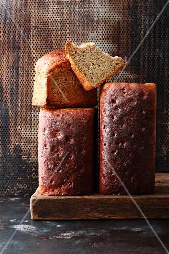 Twice-baked sourdough bread