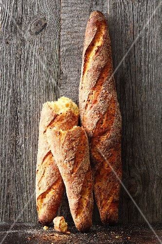 Spelt and lupin baguettes