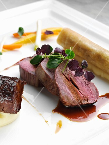 gourmet beef meal by Andy Taylor of Taylormade food